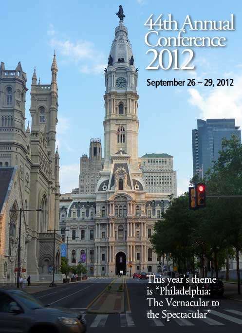 Plan now on attending next year's conference in Philadelphis, September 26-29, 2012