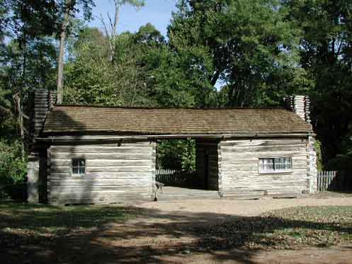 Dog-trot house, New Salem, Illinois, 2002