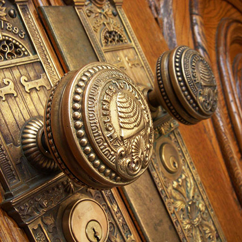 Door knobs at the Sale Lake Temple